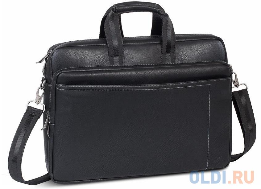 """Сумка для ноутбука 16"""" Riva 8940 искусственная кожа черный"""