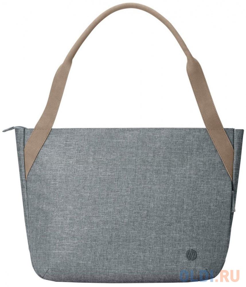 "Сумка для ноутбука 14"" HP RENEW Tote серый/коричневый пластик женский дизайн (1A216AA)"