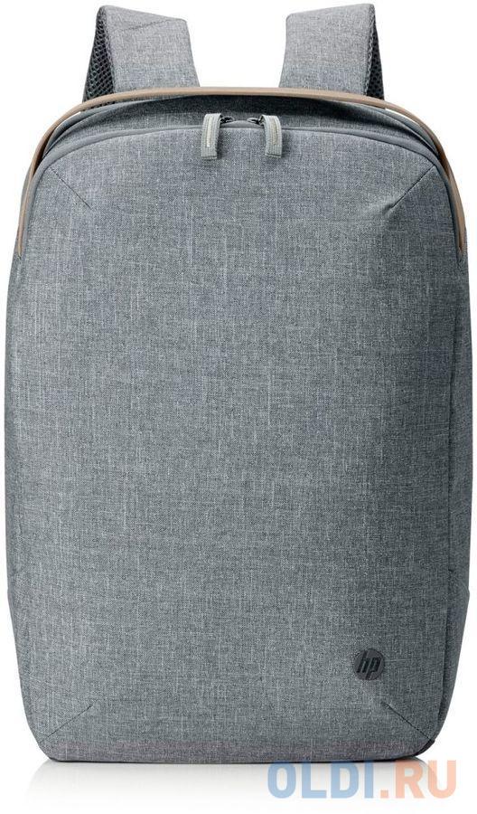 "Рюкзак для ноутбука 15.6"" HP RENEW серый/коричневый пластик (1A211AA)"