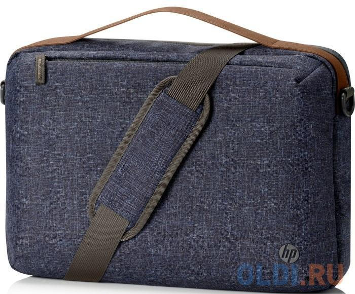 "Сумка для ноутбука 15"" HP RENEW Topload синий/коричневый пластик (1A218AA)"