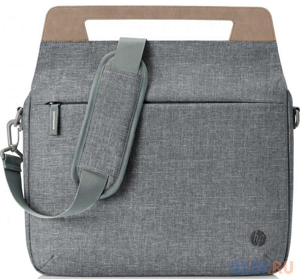"Сумка для ноутбука 14"" HP Renew 14 Slim Briefcase пластик серый коричневый 1A214AA"