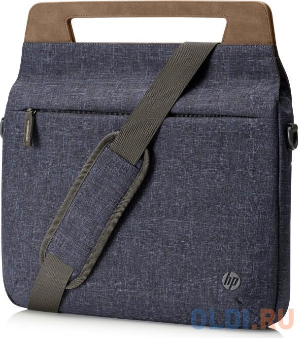 "Сумка для ноутбука 14"" HP Renew 14 Slim Briefcase пластик синий коричневый 1A215AA"