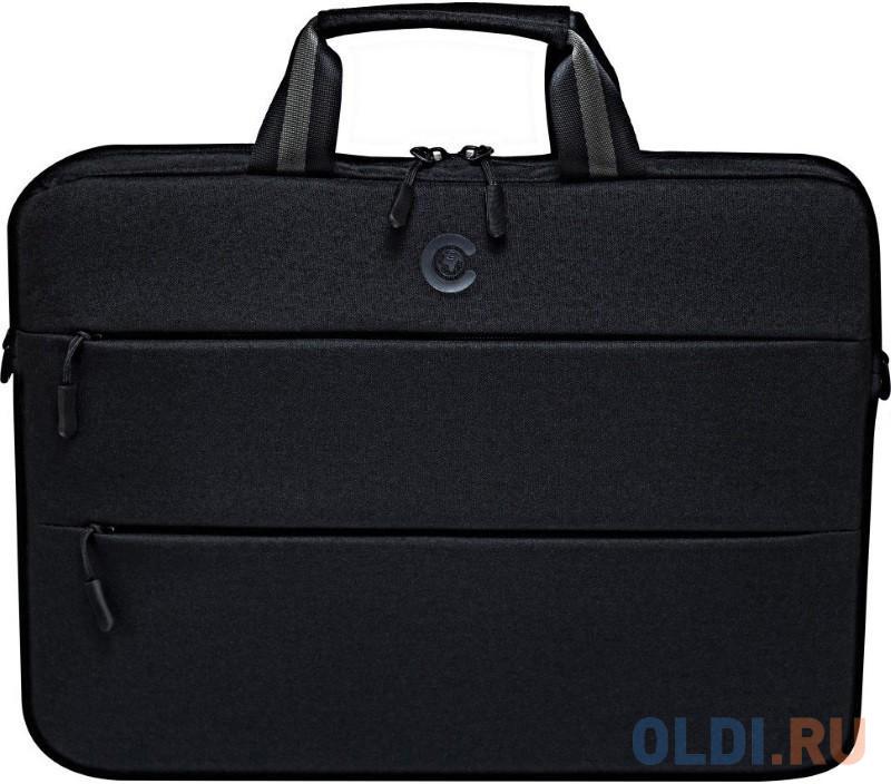 сумка для ноутбука continent cc 036 grey до 15 6 16 серый полиэстр эко кожа 40 x 30 x 4 5 см Continent CC-212 Black
