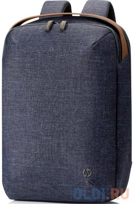 Рюкзак для ноутбука 15 HP RENEW синий/коричневый пластик (1A212AA) hp 15 da0052ur синий