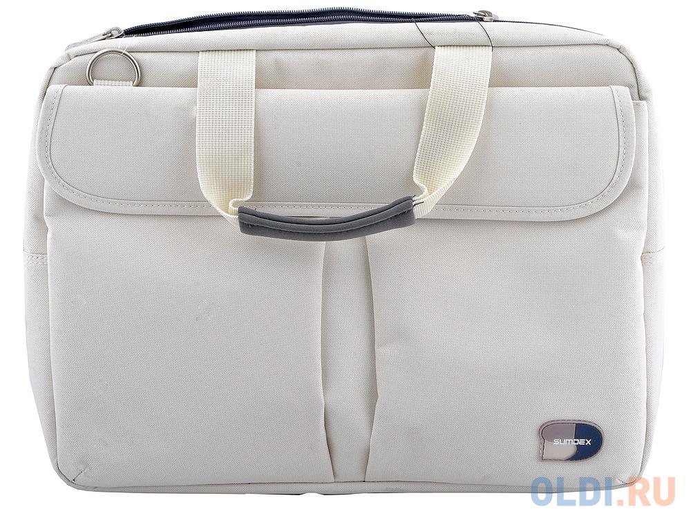 Фото - Сумка для ноутбука 16 Sumdex PON-315CM полиэстер кремовый сумка sumdex 16 pon 202nv navi