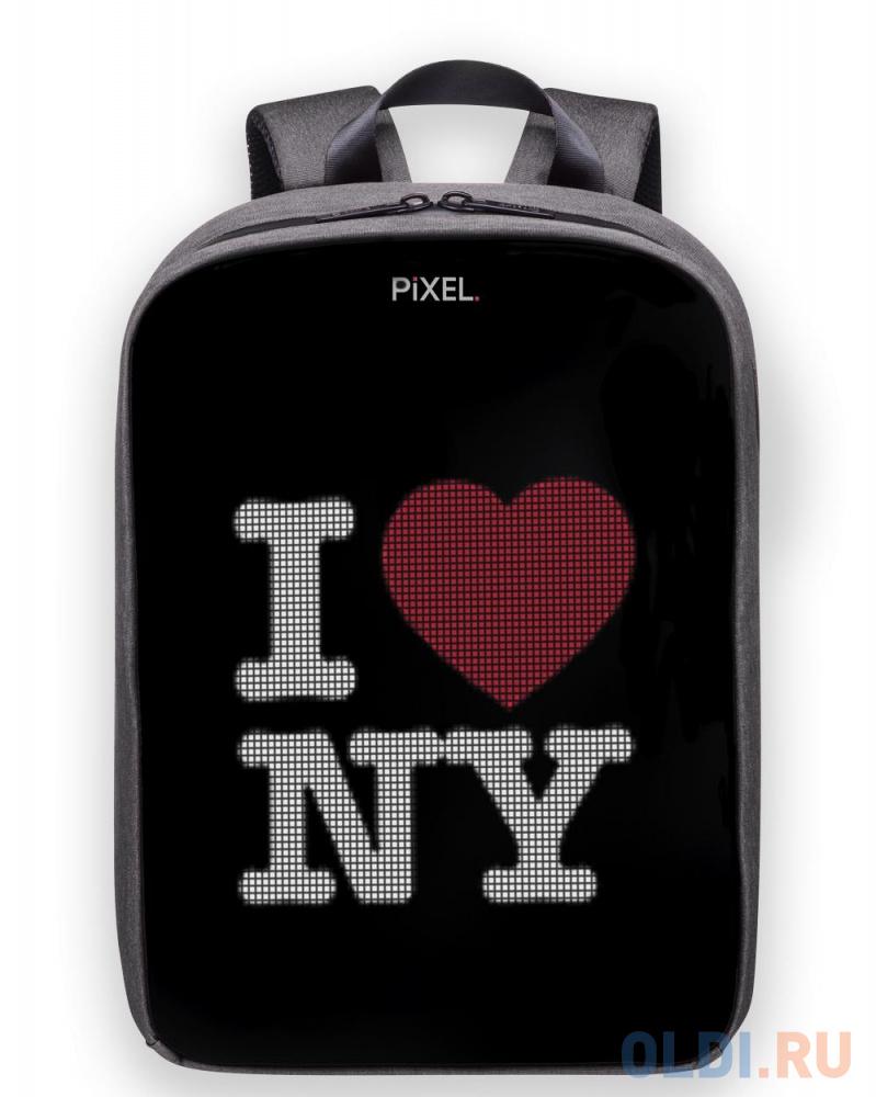 "Картинка для Рюкзак 13"" Pixel PLUS полиэстер серый PXPLUSSI01"