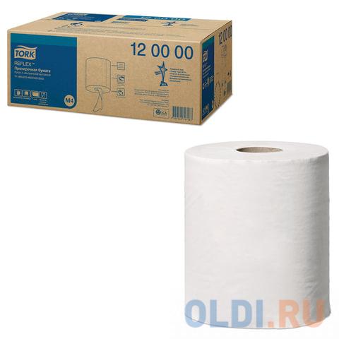Бумага протирочная/полотенца TORK (M4) Reflex, комплект 6 шт., 270 м, с центральной вытяжкой, 120000 протирочная бумага tork плюс с центральной вытяжкой 2 слоя 125 м коробка 6 шт