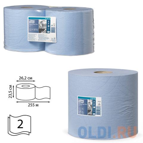 Бумага протирочная TORK (Система W1, W2), комплект 2 шт., Advanced, 750 л./рулоне, 34х23 см, 2-слойная, 130052 протирочная бумага tork плюс с центральной вытяжкой 2 слоя 125 м коробка 6 шт