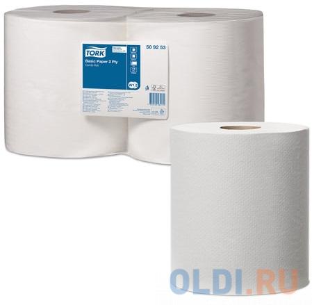 Бумага протирочная TORK (Система W1, W2), комплект 2 шт., Universal, 800 листов в рулоне, 33х25,5 см, 2-слойная, 509253 протирочная бумага tork плюс с центральной вытяжкой 2 слоя 125 м коробка 6 шт