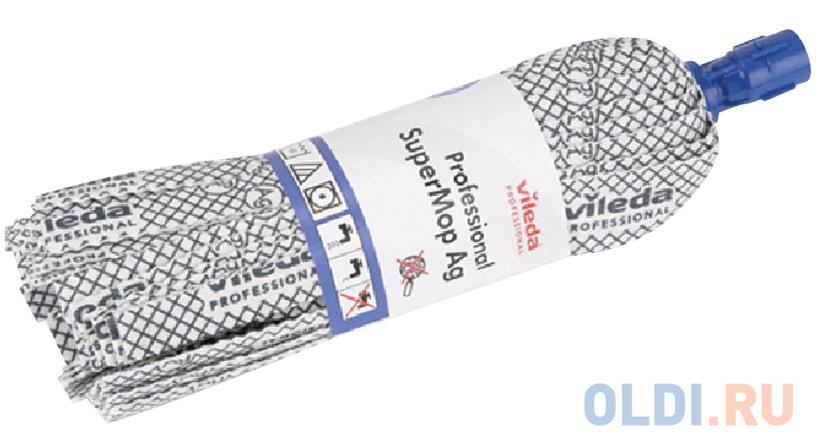 Насадка МОП ленточная для швабры, крепление еврорезьба, хлопок/полиэстер/резина, 33 см, VILEDA АнтиБак, 137908 насадка для швабры vileda ultramax 40 10 см