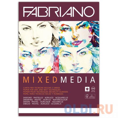 Альбом для рисования FABRIANO Mixed Media A4 40 листов.
