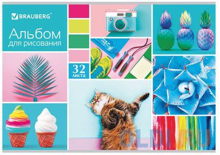 Альбом для рисования BRAUBERG Коллаж 2 A4 32 листа 105069 альбом для рисования brauberg города мира a4 32 листа 103684
