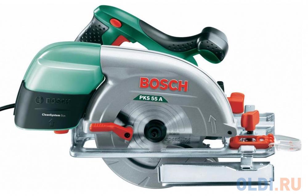Дисковая пила Bosch PKS 55 A пила bosch pks 40 06033c5000