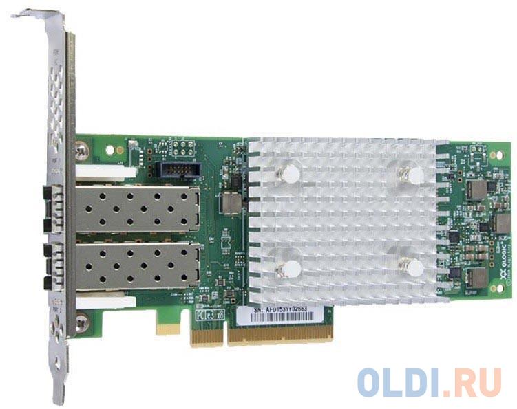 Адаптер Lenovo QLogic 16Gb FC Dual-port HBA 01CV760 контроллер qlogic qle2672 ck 16gb dual port fc hba x8 pcie lc multi mode optic активное охлаждение
