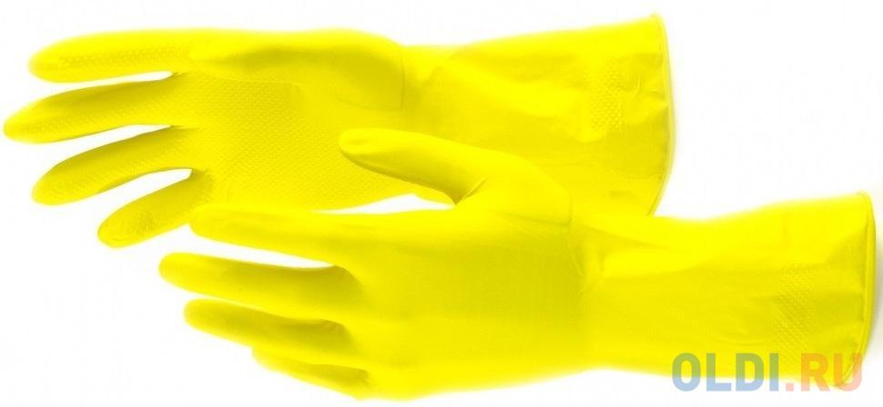 Перчатки хозяйственные латексные, S </div> <div class=