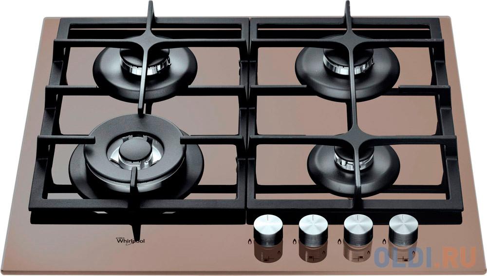 Варочная панель газовая Whirlpool GOA 6425/S коричневый варочная панель whirlpool goa 6423 wh независимая белый