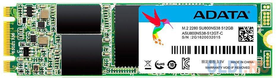 Фото - Твердотельный накопитель SSD M.2 512 Gb A-Data ASU800NS38-512GT-C Read 560Mb/s Write 520Mb/s TLC твердотельный накопитель ssd m 2 256 gb a data ultimate su800 read 560mb s write 520mb s 3d nand tlc asu800ns38 256gt c