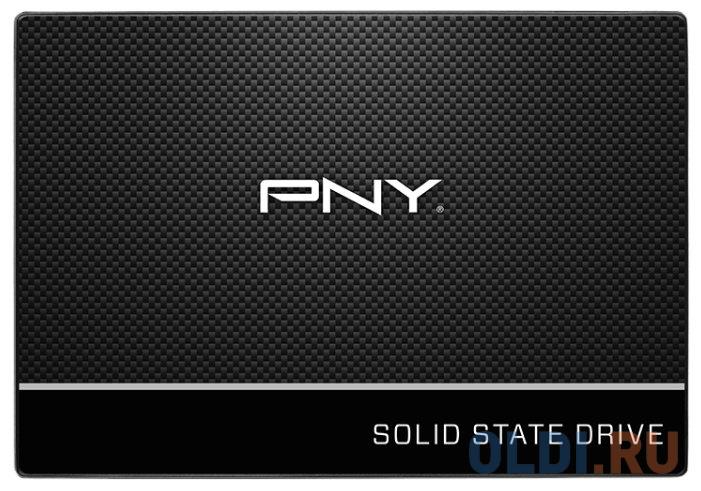 Фото - Твердотельный накопитель SSD 2.5 120 Gb PNY SSD7CS900-120-PB Read 515Mb/s Write 490Mb/s TLC твердотельный накопитель ssd 2 5 120 gb sandisk plus sdssda 120g g27 read 530mb s write 310mb s tlc