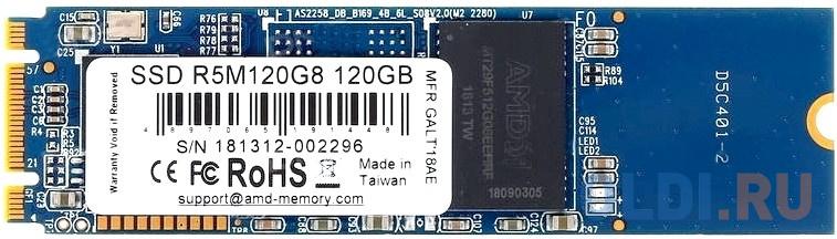 Фото - Накопитель SSD AMD SATA III 120Gb R5M120G8 Radeon M.2 2280 ssd накопитель transcend ts120gmts820s 120gb m 2 2280 sata iii ssd ts120gmts820s