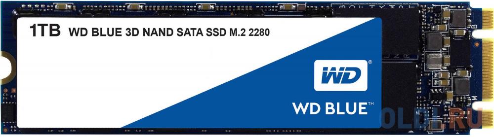 Твердотельный накопитель SSD M.2 1Tb Western Digital WD Blue 3D NAND SSD WDS100T2B0B (SATA 6Gb/s, M.2) ssd накопитель western digital ssd m 2 120gb wds120g2g0b