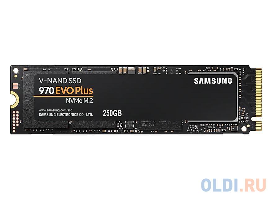Фото - Твердотельный накопитель SSD M.2 NVMe 250GB Samsung 970 EVO Plus (R3500/W2300Mb/s, V-NAND 3-bit MLC, Phoenix, PCIe, 2280) (MZ-V7S250BW) внешний ssd samsung 250gb 980 pro m 2 pcie nvme mlc v nand mz v8p250bw