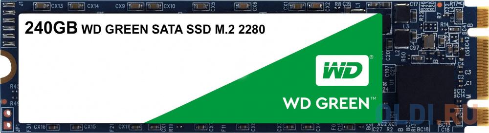 Твердотельный накопитель SSD M.2 240Gb Western Digital WD Green PC SSD WDS240G2G0B (SATA 6Gb/s, M.2) ssd накопитель western digital ssd m 2 120gb wds120g2g0b