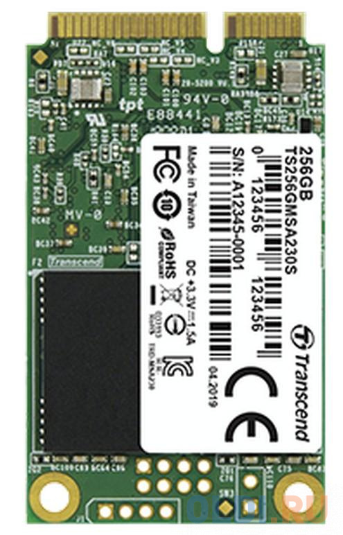 Твердотельный накопитель SSD mSATA 256 Gb Transcend TS256GMSA230S Read 550Mb/s Write 400Mb/s 3D NAND TLC твердотельный накопитель ssd 2 5 250 gb sandisk ultra sdssdh3 250g g25 read 550mb s write 525mb s ultra 3d