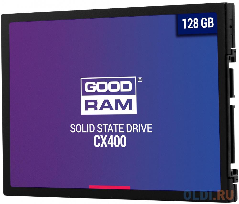 Твердотельный накопитель SSD 2.5 128 Gb Goodram CX400 Read 550Mb/s Write 450Mb/s 3D NAND TLC твердотельный накопитель ssd 2 5 250 gb sandisk ultra sdssdh3 250g g25 read 550mb s write 525mb s ultra 3d