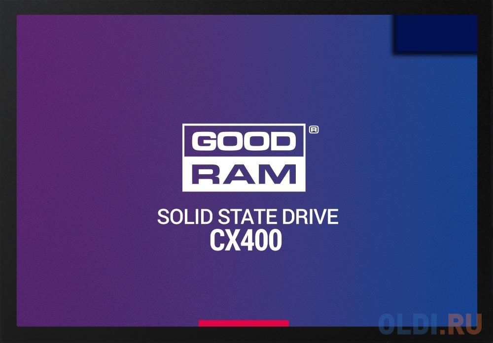 Твердотельный накопитель SSD 2.5 512 Gb Goodram CX400 Read 550Mb/s Write 490Mb/s 3D NAND TLC твердотельный накопитель ssd 2 5 250 gb sandisk ultra sdssdh3 250g g25 read 550mb s write 525mb s ultra 3d