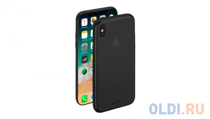 Накладка Deppa Gel Plus Case для iPhone X чёрный 85336 чехол накладка deppa gel plus case матовый для apple iphone x xs розовое золото