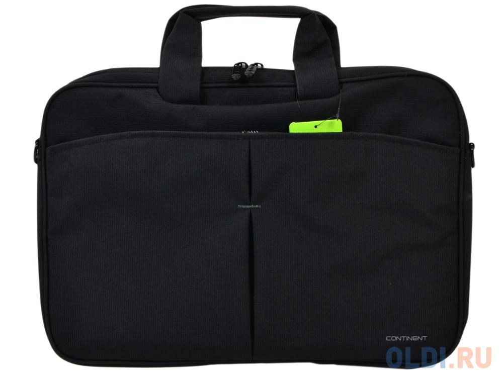 """1e773f952942 Фото «Сумка для ноутбука Continent CC-012 Black 15.6"""" (Черный, нейлон"""