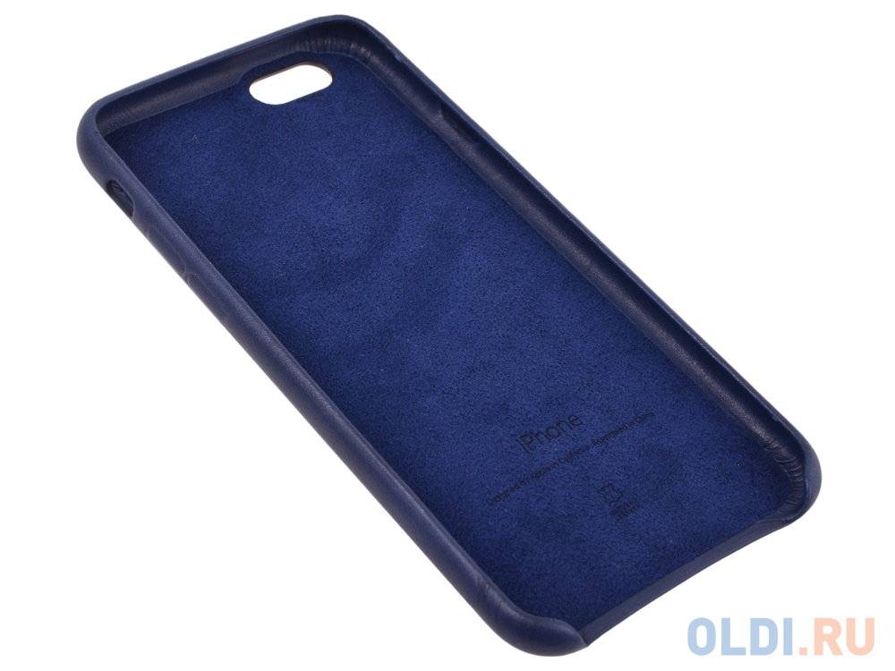 the best attitude a15bc 4a7fb Чехол - обложка iPhone 6s Leather Case Midnight Blue