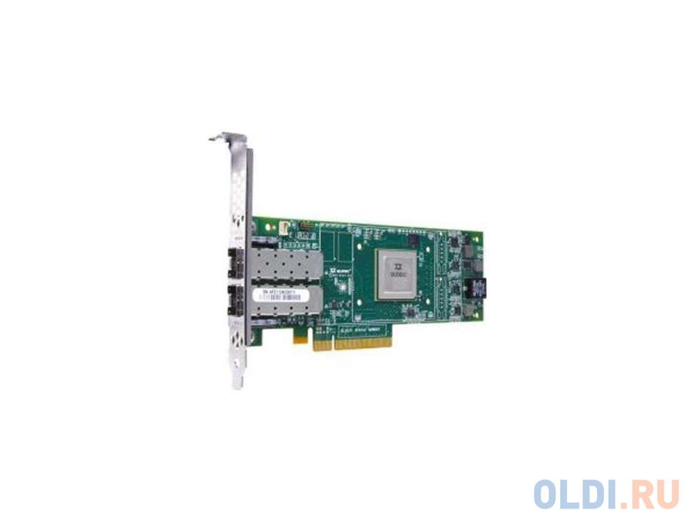 Контроллер QLogic QLE2672-CK контроллер qlogic qle2672 ck 16gb dual port fc hba x8 pcie lc multi mode optic активное охлаждение