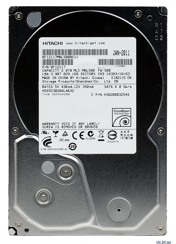 Жесткий диск 2Tb - HGST Ultrastar 7K6000 HUS726020ALE614 / 0F23029