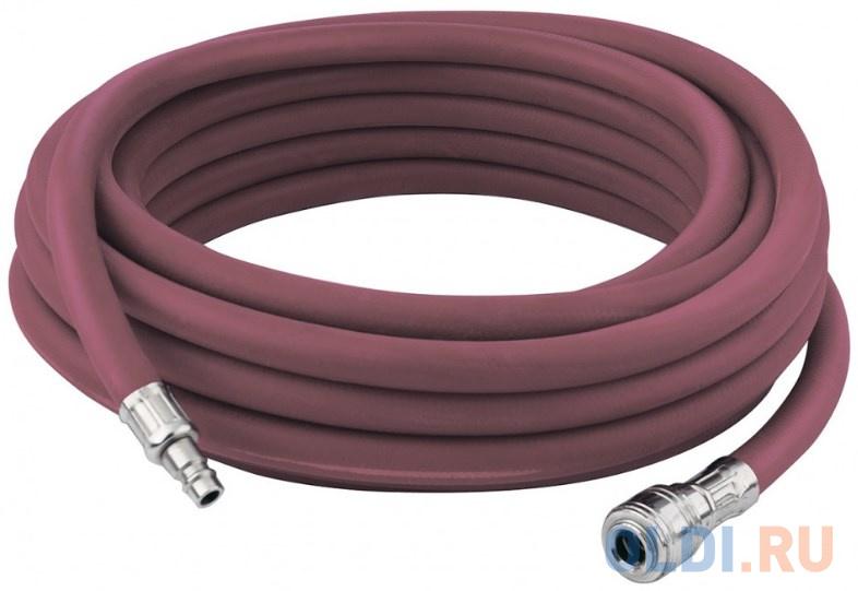 Шланг пневматический резиновый, 10x16мм, 24 бар, армированный, быстросъем , 10м </div> <div class=