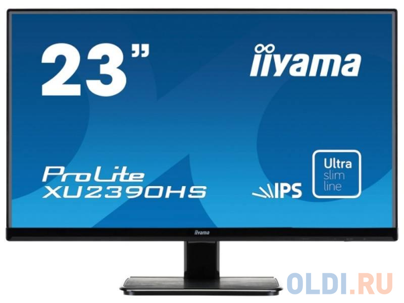 Фото - Монитор 23 iiYama Pro Lite XU2390HS-B1 черный AH-IPS 1920x1080 250 cd/m^2 5 ms DVI HDMI VGA Аудио монитор 23 8 philips 243v7qdab 00 01 черный ips 1920x1080 250 cd m^2 5 ms dvi hdmi vga аудио