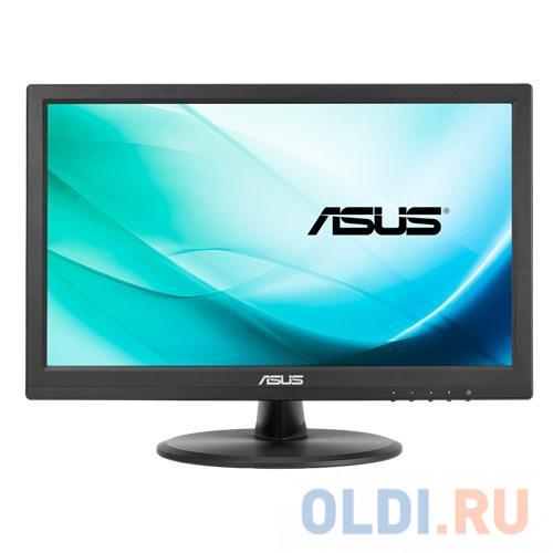 Монитор 15.6 ASUS VT168N Touch LED, 16:9, 1366x768, 10ms, 200cd/m2, 50M:1, 90°/65°, D-SUB, DVI-D, регул. наклона, VESA, Black, 90LM02G1-B01170 (VT168 монитор asus 31 5 vg32vq 90lm04i0 b01170 black