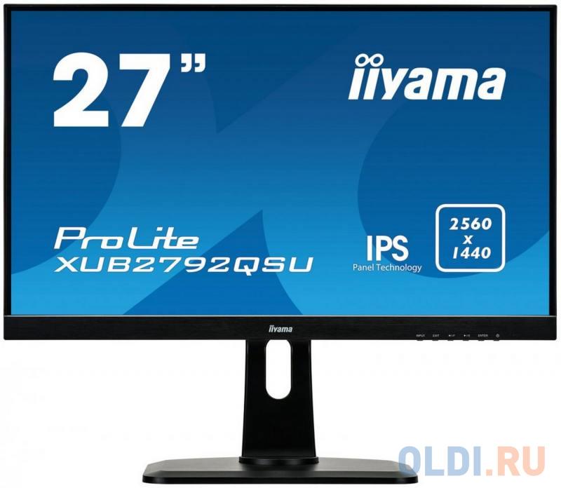Монитор iiYama XUB2792QSU-B1 27 Black, ЖК - монитор с LED подсветкой  - купить со скидкой