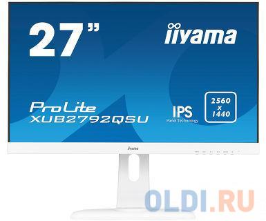 """Картинка для Монитор Iiyama 27"""" XUB2792QSU-W1 белый IPS LED 5ms 16:9 DVI HDMI M/M матовая HAS Pivot 350cd 178гр/1"""