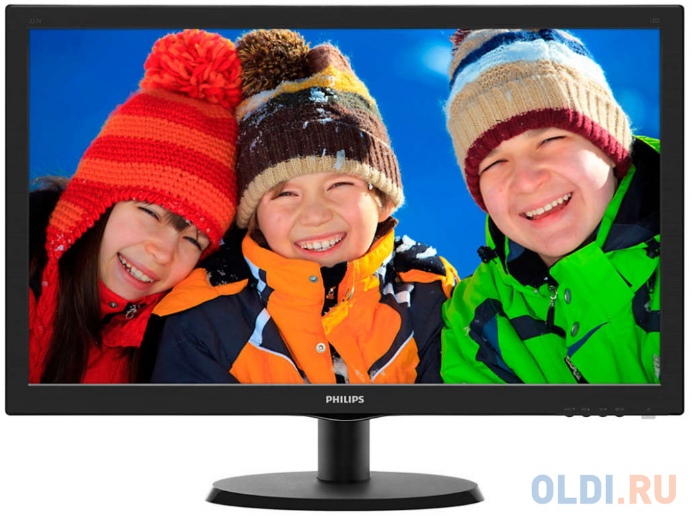 Монитор 22 Philips 223V5LSB2/10/62 черный TN 1920x1080 200 cd/m^2 5 ms VGA монитор 22 aoc e2270swdn черный tn 1920x1080 200 cd m^2 5 ms vga