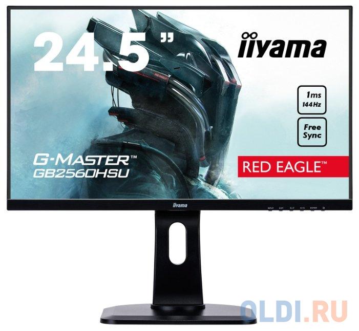 Фото - Монитор 25 iiYama GB2560HSU-B1 черный TN 1920x1080 400 cd/m^2 1 ms HDMI DisplayPort Аудио USB монитор 27 hp omen x 27 черный tn 2560x1440 400 cd m^2 1 ms hdmi displayport аудио usb 6fn07aa