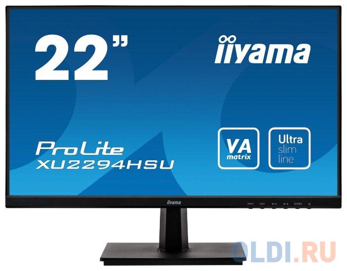 Монитор 22 iiYama XU2294HSU-B1 черный VA 1920x1080 250 cd/m^2 4 ms HDMI DisplayPort VGA Аудио USB монитор iiyama xb2472hsuc b1 24 black 1920x1080 va 75hz 8ms vga d sub dvi dp usbhub speaker vesa