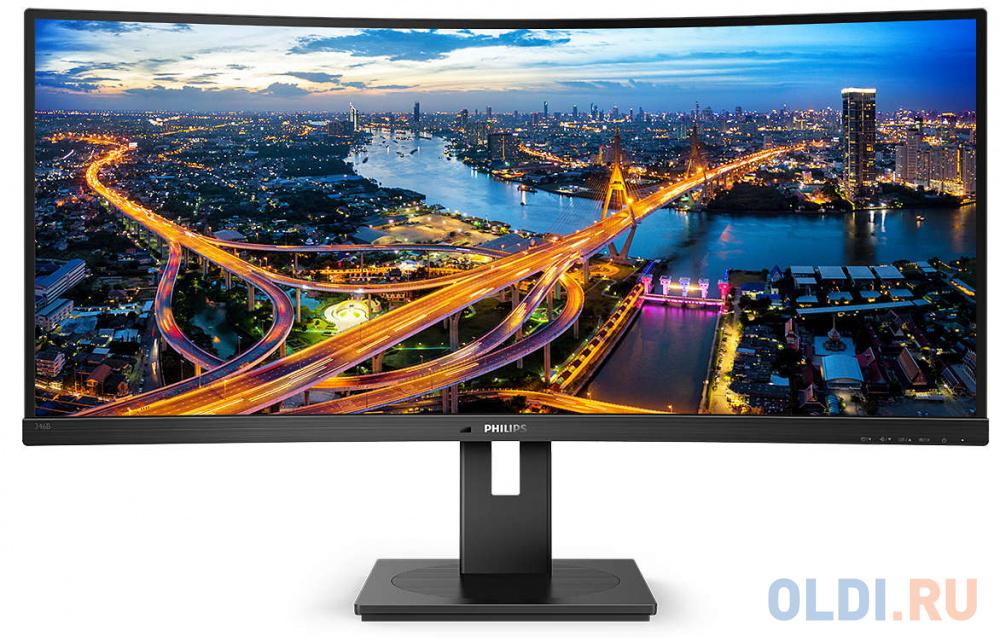 Монитор 34 Philips 346B1C/00 черный VA 3440x1440 300 cd/m^2 5 ms HDMI DisplayPort Аудио USB USB Type-C LAN монитор philips 31 5 323e7qdab 00 01 черный