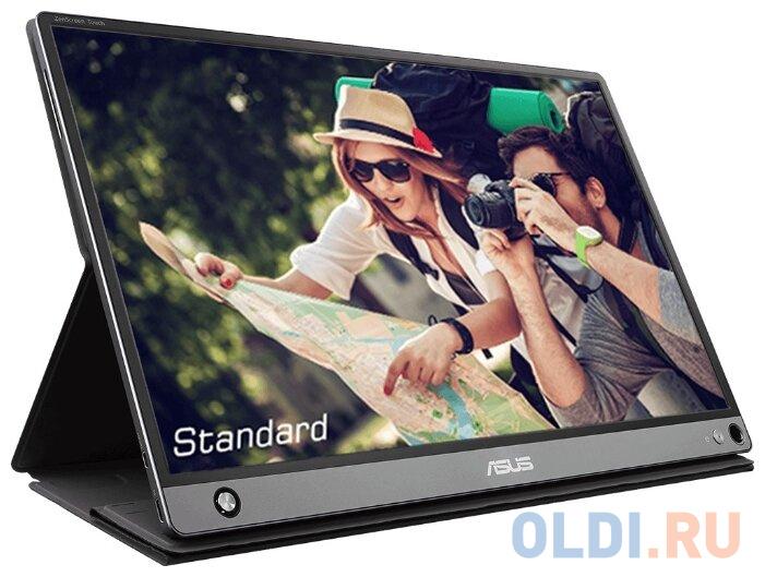 Монитор 16 ASUS MB16AMT cерый IPS 1920x1080 250 cd/m^2 5 ms HDMI USB Type-C 90LM04S0-B01170 монитор 27 asus vz279he w белый ips 1920x1080 250 cd m^2 5 ms vga hdmi 90lm02xd b01470