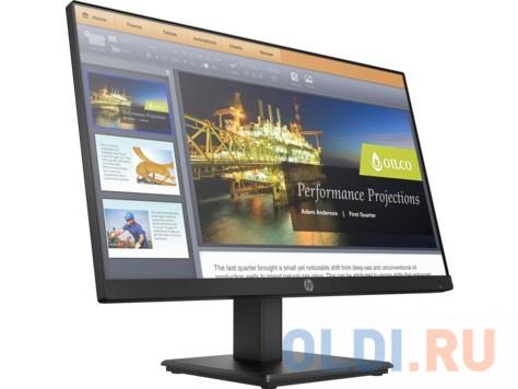 Фото - Монитор 22 HP ProDisplay P224 черный VA 1920x1080 250 cd/m^2 5 ms HDMI VGA DisplayPort 5QG34AA монитор 22 hp p22h g4 черный ips 1920x1080 250 cd m^2 5 ms displayport vga hdmi 7uz36aa