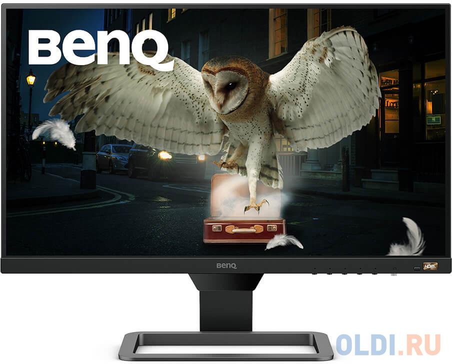 Монитор 24 BENQ EW2480 черный IPS 1920x1080 250 cd/m^2 5 ms HDMI Аудио 9H.LJ3LA.TSE монитор benq 23 8 ew2480 black metallic grey 9h lj3la tse