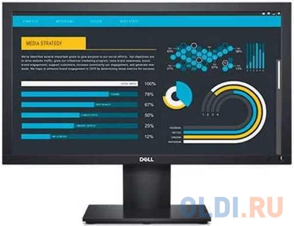 Фото - Монитор 22 DELL E2220H черный TN 1920x1080 250 cd/m^2 5 ms VGA DisplayPort 2220-0681 монитор dell 31 5 s3220dgf 3220 0162 черный