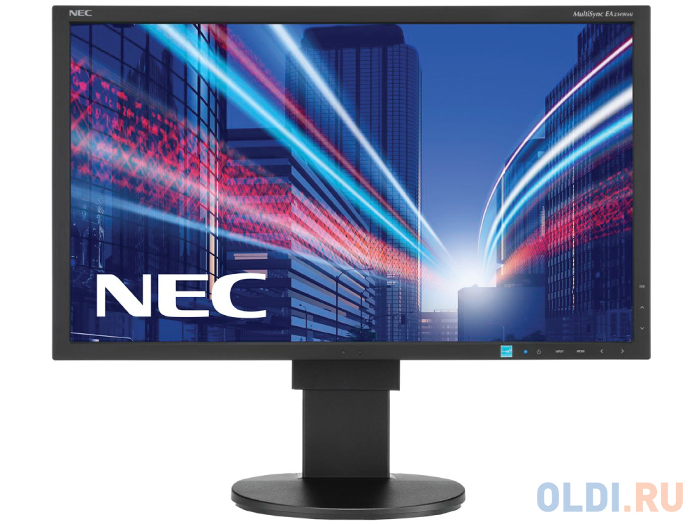 Монитор 23 NEC EA234WMI черный IPS 1920x1080 250 cd/m^2 6 ms DVI HDMI DisplayPort VGA Аудио USB 60003588 телевизор led 48 nec multisync v484 черный 1920x1080 60 гц vga hdmi 1 x dvi d line in rs 232c usb displayport 07an1gbn