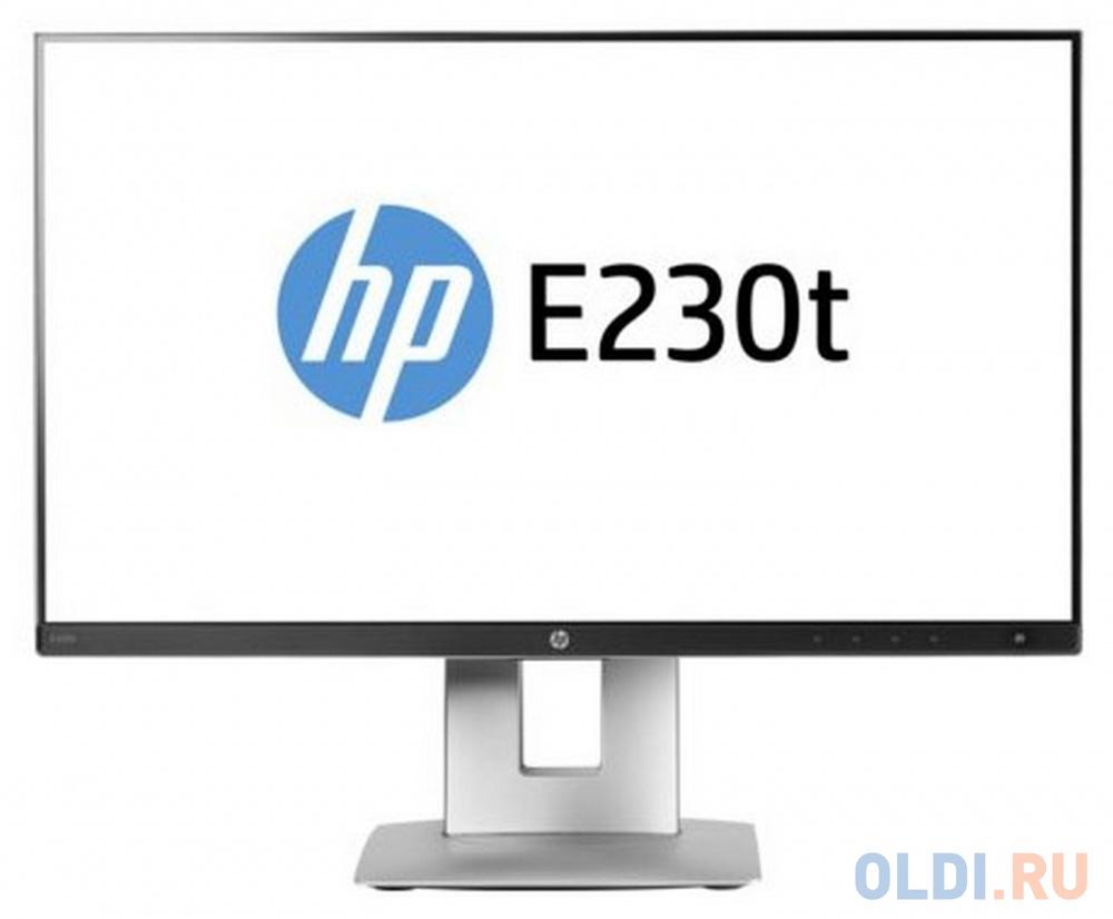 Монитор 23 HP EliteDisplay E230t черный серебристый IPS 1920x1080 250 cd/m^2 6 ms HDMI DisplayPort VGA USB W2Z50AA монитор hp 24fw 23 8 серебристый черный [4tb29aa]