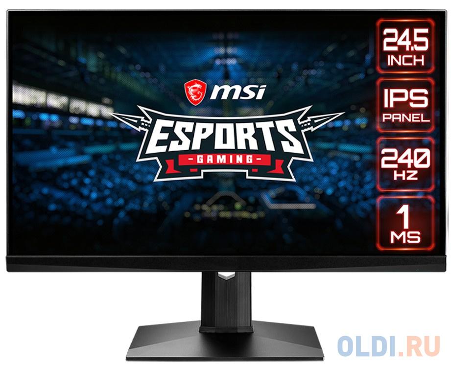 Монитор 24 MSI Optix MAG251RX черный IPS 1920x1080 400 cd/m^2 1 ms HDMI DisplayPort USB Type-C USB Аудио 9S6-3BA37T-010 монитор msi optix mag251rx 9s6 3ba37t 010